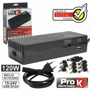 Alimentador Switching 15-24V 6a C/USB PROK - (ACK120W-USB)