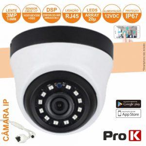 Câmara Vigilância Ip Dome Cmos 1080p 3mp IP67 PROK - (CVCIP104LA)