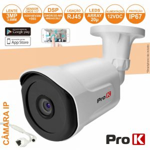 Câmara Vigilância Ip Cmos 1080p 3mp IP67 PROK - (CVCIP103LA)