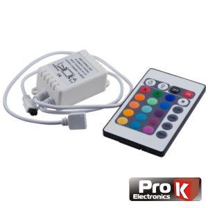 Controlador P/ Fita LEDS RGB 12V C/Comando PROK - (CFL11RGB12)