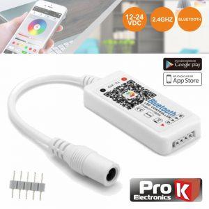 Controlador P/ Fita LEDS RGB 12V/24V C/Comando BT PROK - (CFL22RGB12)