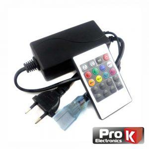 Controlador P/ Fita LEDS RGB 220v C/ Comando PROK - (CFL31RGB220(L))