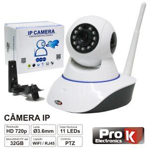Câmara Vigilância Ip 720p S/ Fios Wi-Fi Rotativa Prok - (CVCIP081LA)