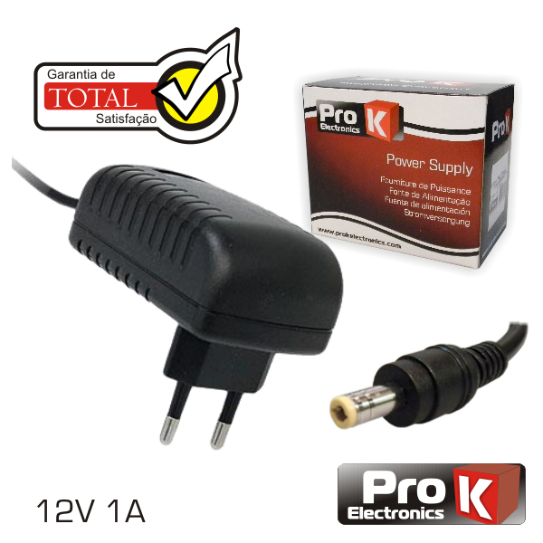 Alimentador Switching 12V 1A PROK - (FAS12V1A)