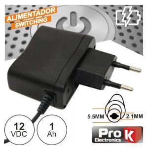 Alimentador Switching 12V 1A PROK - (FAS12V1A(C))