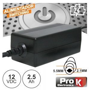 Alimentador Switching 12V 2.5a PROK - (FAS12V2.5A(C))
