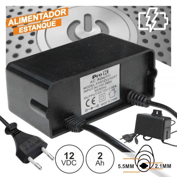 Alimentador Switching 12V 2a Estanque PROK - (FAS12V2AEST)