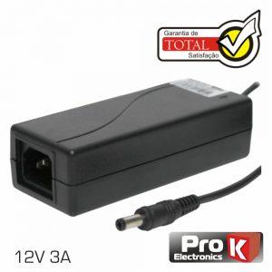 Alimentador Switching 12V 3a P/Lcd PROK - (FAS12V3AB)