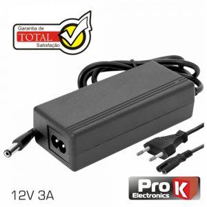 Alimentador Switching 12V 3a PROK - (FAS12V3AB(C))