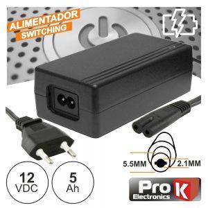 Alimentador Switching 12V 5a PROK - (FAS12V5AB(C))
