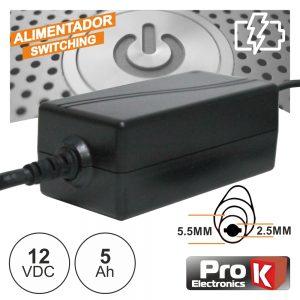 Alimentador Switching 12V 5a PROK - (FAS12V5A(H))