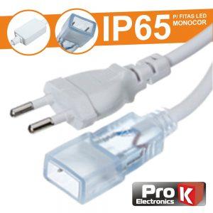 Cabo Alimentação P/Fita LEDS 220v IP65 PROK - (FL50/CA)