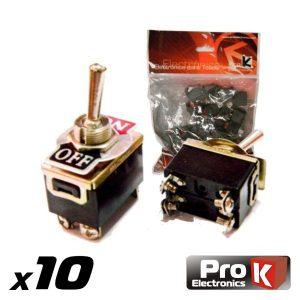 Interruptor Alavanca On-Off 10a/250v 10X PROK - (ITR101A/10)
