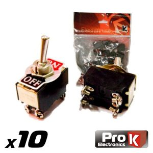 Interruptor Alavanca On-Off 10a/250v 10X PROK - (ITR102A/10)