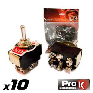 Interruptor Alavanca On-Off-On 10a/250v 10X PROK - (ITR103A/10)