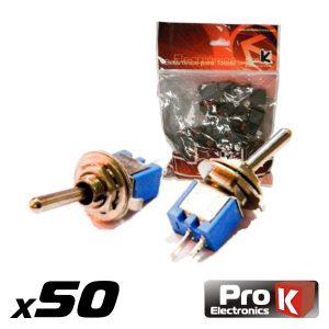 Interruptor Alavanca Sub-Miniatura On-Off 50x PROK - (ITR201A/50)