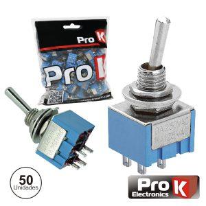Interruptor Alavanca Miniatura On-Off 50x PROK - (ITR202A/50)