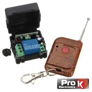 Kit Emissor Receptor De 1 Canal E 1 Comando Rf PROK - (PKER1RF(H))