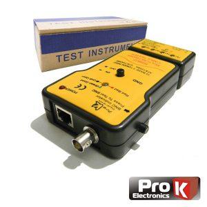 Testador De Cabos Rede Bnc/UTP/Stp Profissional PROK - (MS6810)