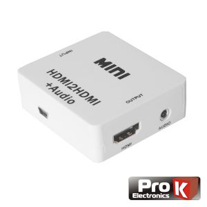 Conversor HDMI -> HDMI Amplificado Saída Áudio Spdif PROK - (PK-HDMIHDMI01)