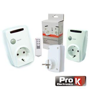 Conjunto De 3 Tomadas Elétricas C/ Comando S/Fios PROK - (PKD TRIO)