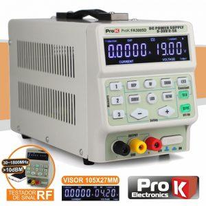 Fonte De Alimentação Digital 0-30V / 0-5A Testador Rf PROK - (PKFA3005D)