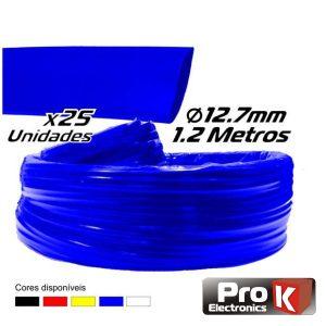 Tubo Manga Termoretráctil 12.7mm 1.2m 25x Azul PROK - (PKMT127B/25)