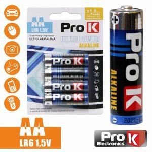 Pilha Ultra Alcalina LR6/AA 1.5v 4x Blister PROK - (PKPA-AA01)
