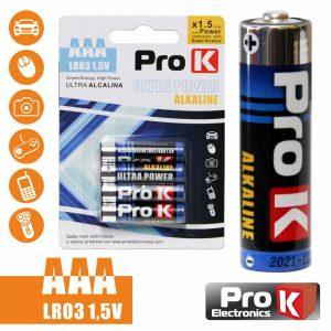 Pilha Ultra Alcalina LR03/AAA 1.5v 4x Blister PROK - (PKPA-AAA01)
