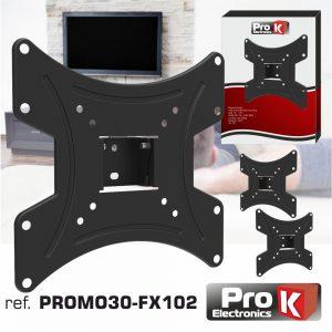 """Promo 3 Suportes Lcd/LED 13/42"""" 15º Vesa 200/200 20kg PROK - (PROMO30-FX102)"""