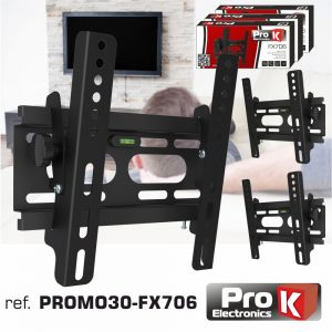 """Promo 3 Suportes Lcd/LED Até 37"""" 1 Braço 200/200 25kg PROK - (PROMO30-FX706)"""