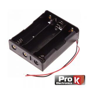 Suporte P/ 3 Pilhas 18650 PROK - (BH331E)